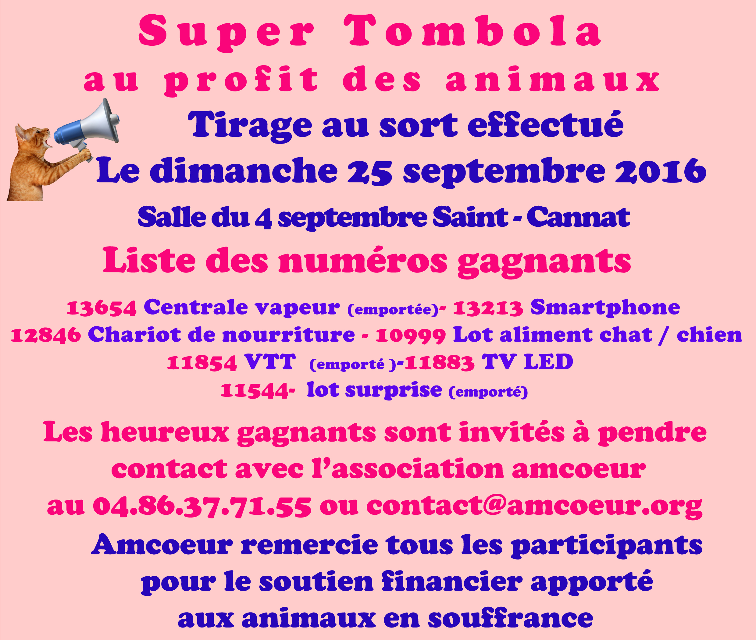 Annonce tirage